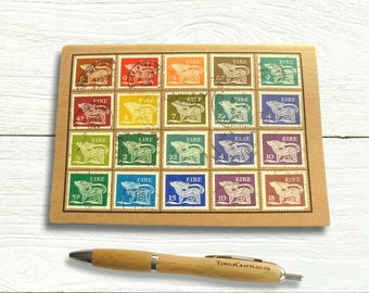 Ireland Eire Postage Stamp Notebook, dot grid pages - Gerl definitive dog