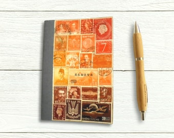 Pocket Sunset Journal • Original Stamp Art Notebook with Numbered Pages