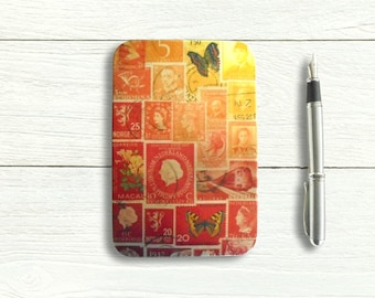 Fire Glow - Hinged Storage Tin for A6 Stationery, Postcards etc