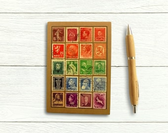Rainbow World Stamps Address Book & Birthday Book