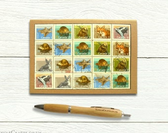Canada Wildlife Notebook - 1988small mammals postage stamp cover