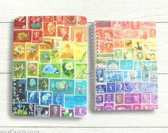 Rainbow Print Address Book in Rainbow Print Storage Tin