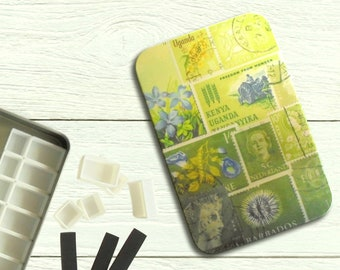 Spring Greens - DIY watercolour tin with hinged lid
