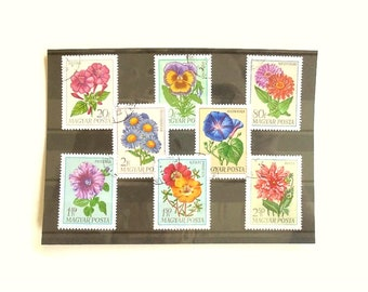 Flower Stamps from Hungary - 1968 set