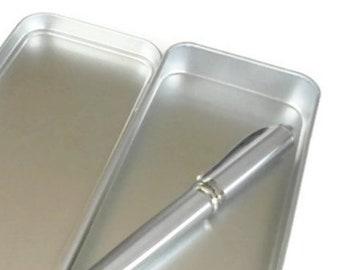 Pen Storage Tin - optional fountain pen & ink cartridges