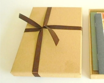 Add an A6 Kraft Gift Box, tied with string - with optional fountain pen