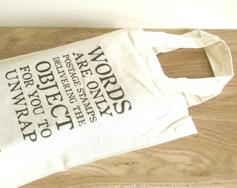 Postage Stamp Quote Gift Bag - with optional notebook, gift box & pencil