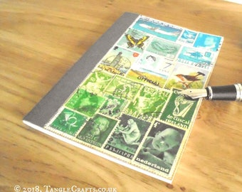 Summer Landscape Bujo • Free Journal Notebook • Original Stamp Art Collage
