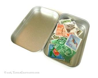 Tiny Stamp Sorter Gift Tin for Amateur Philatelist