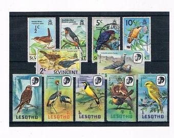 Bird Definitives, part sets - St Vincent, 1970 & Lesotho, 1981