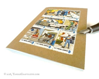 Postal People Retro Address Book & Birthday Book