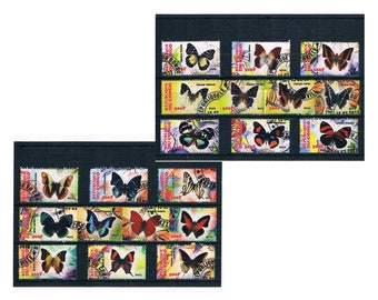 Butterfly Postage Stamps for Crafting - Congo, 2013