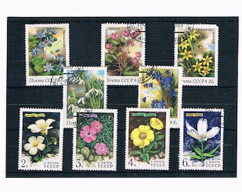 WildFlower Postage Stamps - Russia set 1983, part set 1977