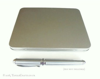 A6 Stationery Tin - Fits 4x6 Notebooks Postcards Pens Travel Documents etc