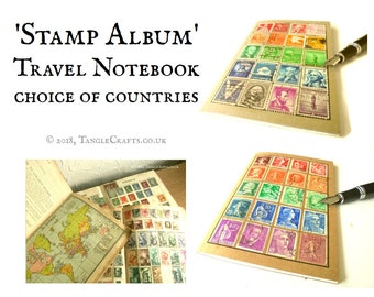 Stamp Album Travel Notebook (A6) - choice of countries