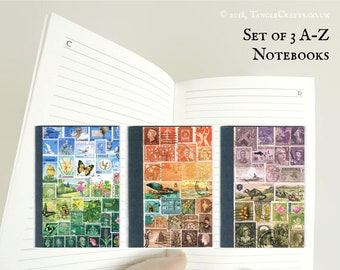 Set of 3 Mixed A-Z Notebooks