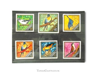 Wild BIrd postage stamp part set - Guinea, 1971