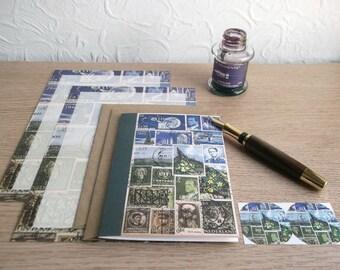 Spring Shadows Stationery Sampler Set •  Postage Stamp Letter Set