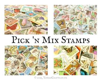 Mix & Match Stamp Packets - floral, butterflies, birds, wildlife