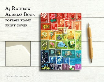 A5 Rainbow Birthday Address Book
