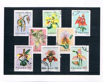 Pastel Orchid Postage Stamp Part Set - Poland, 1965
