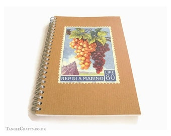 A5 spiral Bound Wine Journal, with gift box & fountain pen