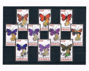 Butterfly Postage Stamps - Rwanda, 2010