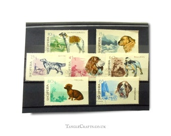 Dogs on postage stamps, full set - Albania, 1966