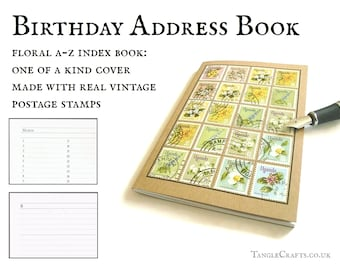 Uganda flowers address book or garden planner notebook