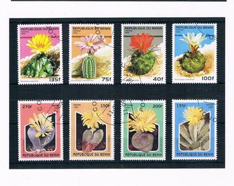 Flowering Cacti on Postage Stamps - part sets from Benin, 1996 & 1997