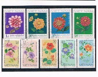 Vietnam Flower Postage Stamps - 1980, 1982
