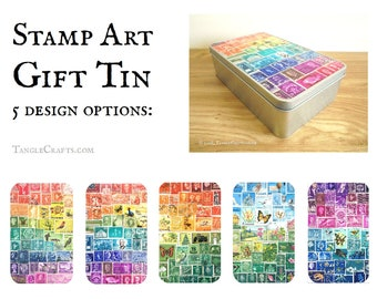 Tin Anniversary Gift - Keepsake Memory Box, choice of 5 designs