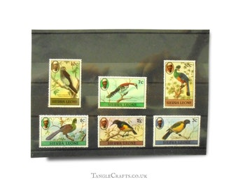 Birds postage stamp selection - Sierra Leone 1982 part set