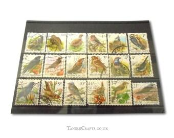 Bird Postage Stamps - Belgium   sparrow woodpecker chaffinch etc, definitive garden bird Belgian postal stamps for craft or collection
