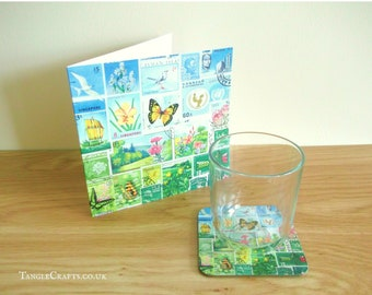 Happy Valley Card with Coaster Set