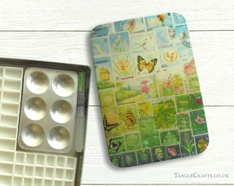 Happy Valley DIY watercolour tin with hinged lid - A5 size