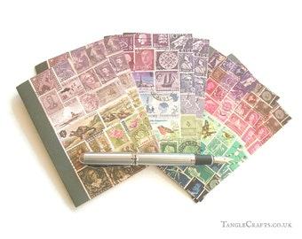 Purple Skies Postage Stamp Notecard Set • Blank Inside Cards