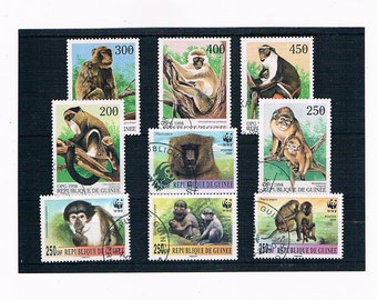 Monkeys on Postage Stamps - Republic of Guinea 1998 & 2001