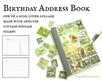Woodland Birthday Address Book, A6 Month Planner