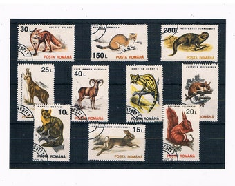 Retro Woodland Wildlife Stamp Collection - Romania 1993 Set