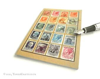 Rainbow Italy Travel Notebook - Vintage Stamp Album-style