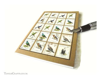 Bird Spotter's Notebook - Album-Style Cover of Kenyan Bird Stamps