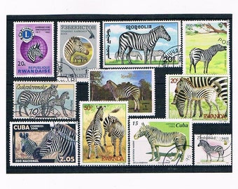 Zebras on Postage Stamps - Thematic Selection