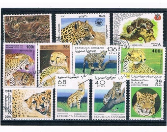 Leopards, Cheetahs, BIg Cats on Postage Stamps - mixed countries