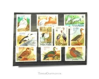 Cranes & Ducks on Postage Stamps - part sets, Vietnam 1991, Somalia 1998