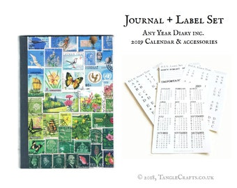 Happy Valley - Any Year Diary with 2019 Calendar & Labels Set