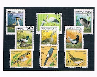 Birds on Postage Stamps - Hungary 1979 & 1980, Cambodia 1996