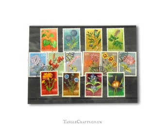 Wildflower postage stamp selection, part sets from Yugoslavia 1961-1973