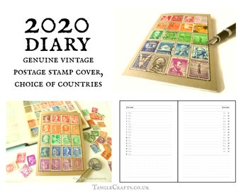 2020 Pocket Diary with Rainbow Stamp Album Cover