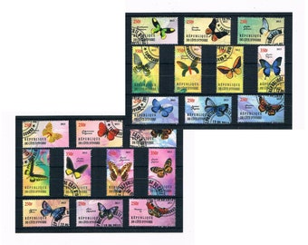 Butterfly Postage Stamps for Crafting - Ivory Coast, 2013